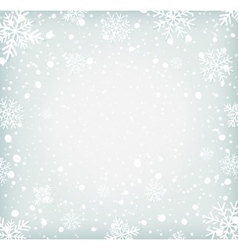 Winter background withh snowflakes vector image