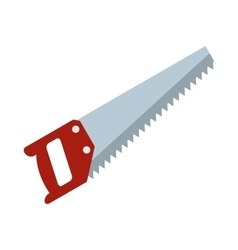 Wood saw icon flat style vector