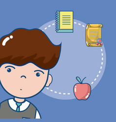 Young male school student vector