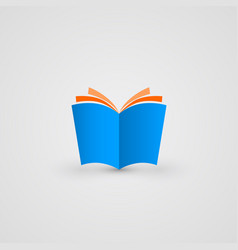 book icon simple and clean vector image