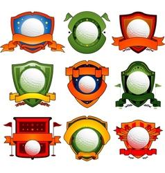 color golf emblem vector image vector image