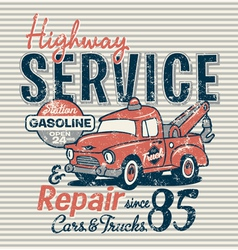 Highway service station vector image vector image