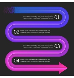 Infographics design template Arrows vector image vector image