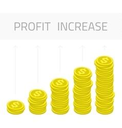 Profit increase money vector