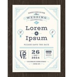 Classic vintage wedding invitation card vector