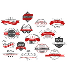 Retro banners and labels set for retail business vector image vector image