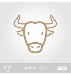 Spanish bull buffalo icon animal head vector