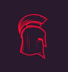 spartan helmet outline vector image vector image