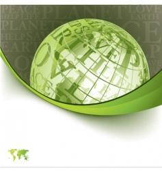 earth template design vector image