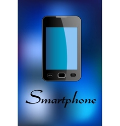 Glossy smartphone vector image vector image