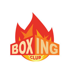 Boxing club emblem logo for gym sport sign vector