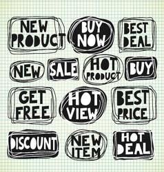 Discount promotion labels vector