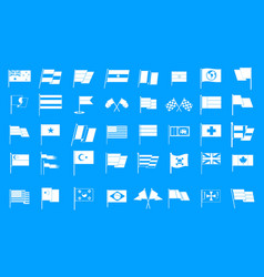 flag icon blue set vector image