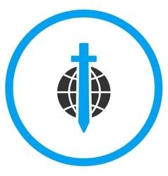 Globe Sword Icon vector image
