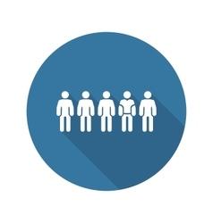 Team Icon Flat Design vector image