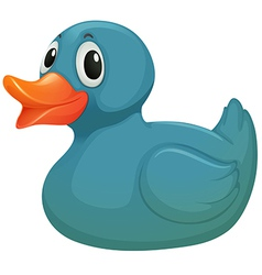 A light blue rubber duckie vector
