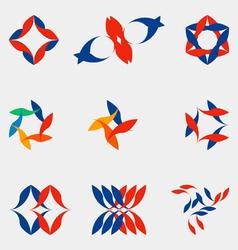 A set of nine logos vector image vector image
