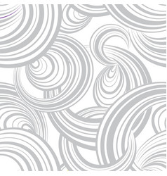 Abstract wave line and loops monochrome seamless vector