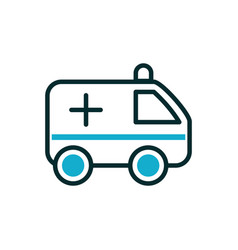 Ambulance emergency urgency medical icon line fill vector