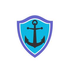 anchor ocean protection icon logo vector image