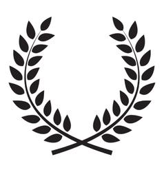 Award Laurel Wreath Winner Leaf label Symbol of vector