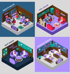 beauty and health procedures isometric vector image