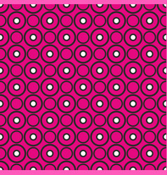 black and white dots on pink background vector image