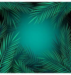 Blue jungle leaves background vector image