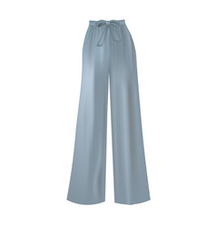 Blue loose pants vector