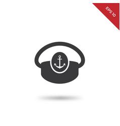 boat captain hat icon vector image