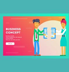 business concept break contract vector image