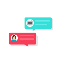 Chatbot and chat bubble icons vector