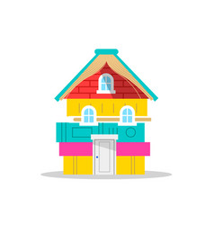 Children book house concept for school reading vector