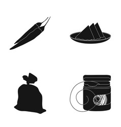 Chili table setting and other web icon in black vector