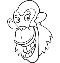 chimpanzee for coloring book vector image