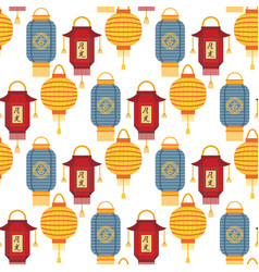 Chinese lantern light paper holiday celebrate vector