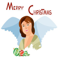 Christmas-card-11 vector image
