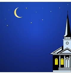 Christmas landscape with Church Spire vector image