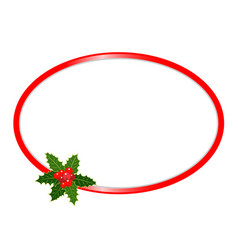 christmas oval frame vector image