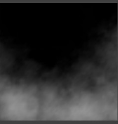 clouds white fog smog on black background effect vector image