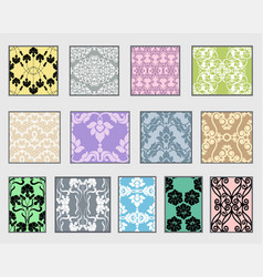 collection decorative patterns vector image