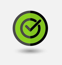 confirmation check mark consent icon on white vector image