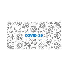 Covid-19 china coronavirus outline vector