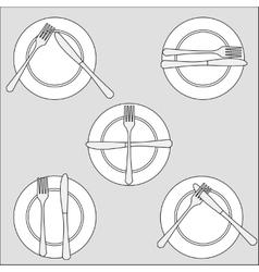 Cutlery set vector