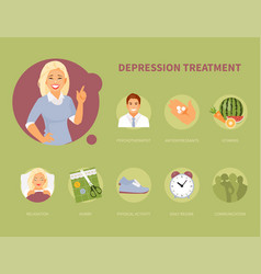 depression treatment vector image