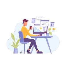 designer work in design studio creator vector image