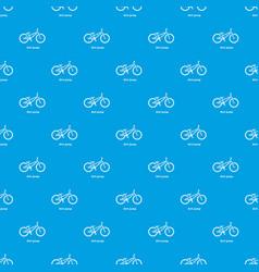 dirt jump bike pattern seamless blue vector image
