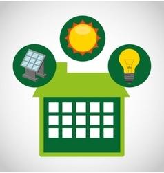 Ecological alternative energy green vector