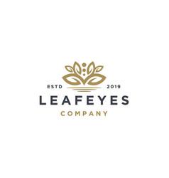 elegant leaf fashion cosmetic logo design vector image