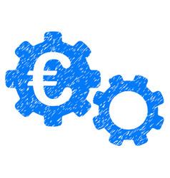 Euro mechanics grunge icon vector
